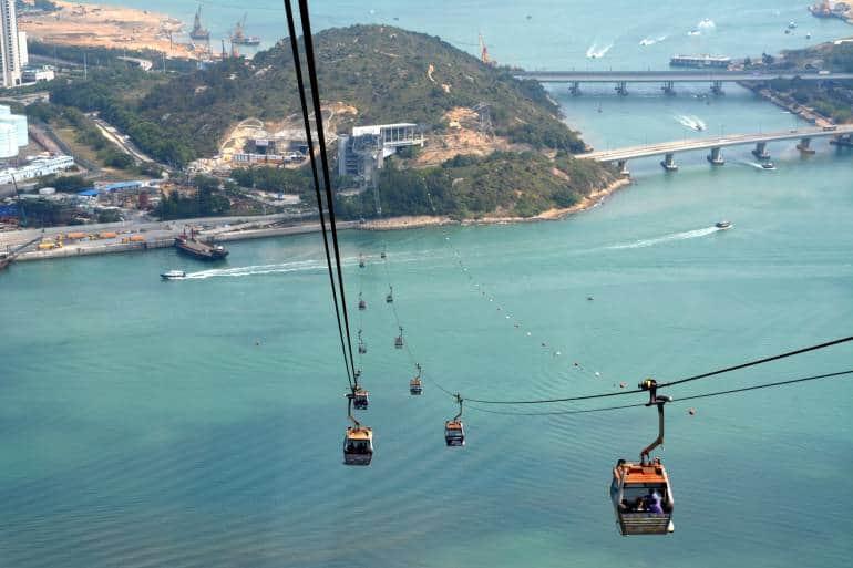 Ngong Ping 360 Skyrail, starts at Chung Tung Mtr Station